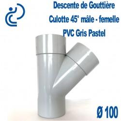 CULOTTE GOUTTIERE PVC gris pastel MF 45° D100