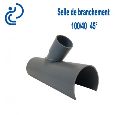 Selle de Branchement 100x40 à 45° PVC à coller