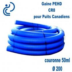 Gaine PEHD échangeur Géothermique DN200 couronne 50ml