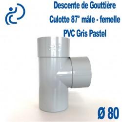 CULOTTE GOUTTIERE PVC GRIS PASTEL 87° MF D80
