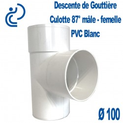 CULOTTE GOUTTIERE PVC BLANC 87° MF D100