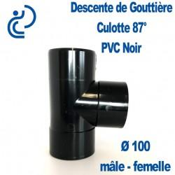 CULOTTE GOUTTIERE PVC NOIR 87° MF D100