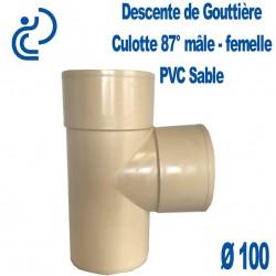 CULOTTE GOUTTIERE PVC SABLE 87° MF D100