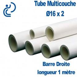 Tube Multicouche Ø16 x 2 barre droite de 1 mètre