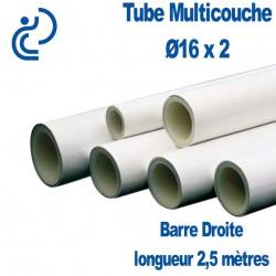 Tube Multicouche Ø16 x 2 barre droite de 2,5 mètres