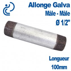 "ALLONGE GALVA Ø1/2"" longueur 100mm"
