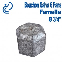 "Bouchon Galva 6 PANS Femelle 3/4"""