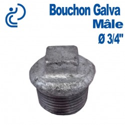 """Bouchon Galva Mâle 3/4"""""""