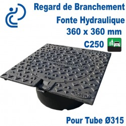 Regard de Branchement Fonte Hydraulique 360x360 C250 pour tube Ø315