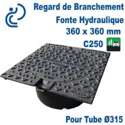 Regard de Branchement Fonte Hydraulique 360x360 C250 pour tube Ø315
