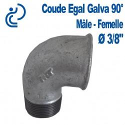 COUDE GALVA 90° 3/8 MF