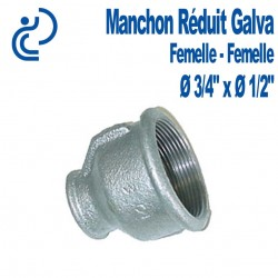 MANCHON REDUIT GALVA 3/4x1/2 FF