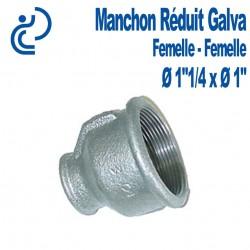 "MANCHON REDUIT GALVA 1""1/4 X 1"" FF"