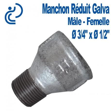 "MANCHON REDUIT GALVA 3/4"" X 1/2"" FM"