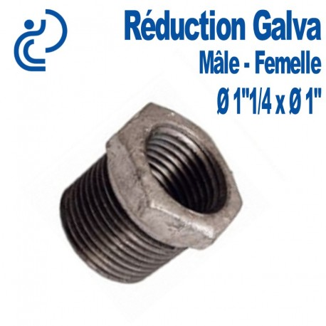 "REDUCTION GALVA 1""1/4 X 1"" MF"
