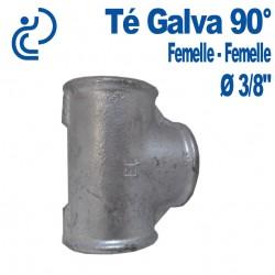 TE GALVA 90° 3/8 FF