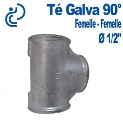 TE GALVA 90° 1/2 FF