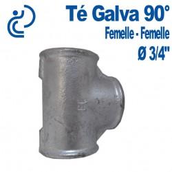"""TE GALVA 90° 3/4"""" FF"""