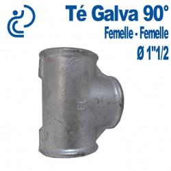 """TE GALVA 90° 1""""1/2 FF"""