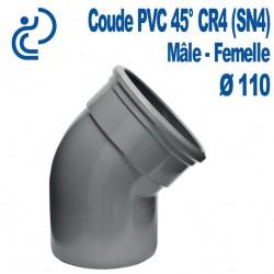 Coude pvc CR4 45° D110 MF