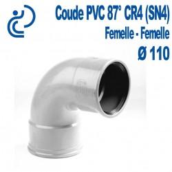 Coude pvc CR4 87° D110 FF