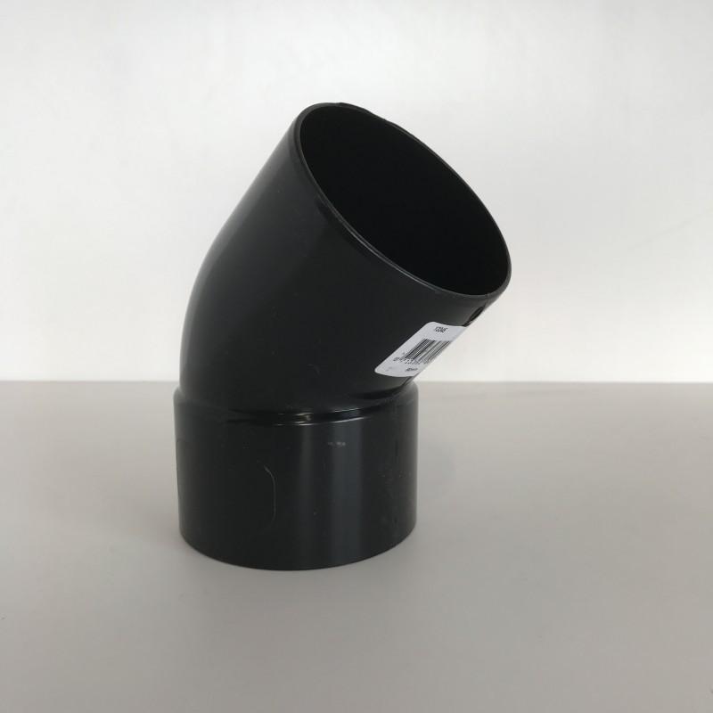 coude goutti re pvc noir 45 mf d100. Black Bedroom Furniture Sets. Home Design Ideas