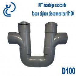 Kit montage raccords façon siphon disconnecteur D100