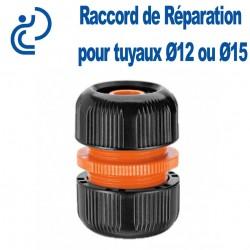 Raccord de Réparation (jonction compression) pour tuyaux d'arrosage Ø12 ou Ø15