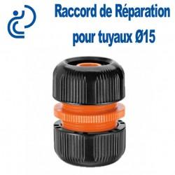 Raccord de Réparation (jonction compression) pour tuyaux d'arrosage Ø15
