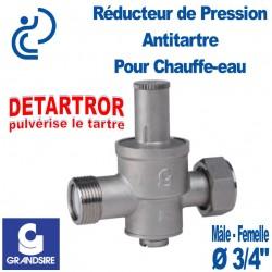 """Réducteur de Pression Antitartre pour Chauffe-eau DETARTROR 3/4"""" MF"""