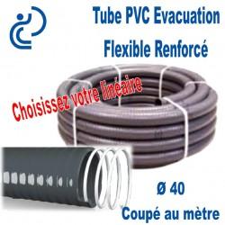 Tube PVC Évacuation Flexible Renforcé Ø40 Coupé au mètre