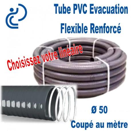 Tube PVC Évacuation Flexible Renforcé Ø50 Coupé au mètre