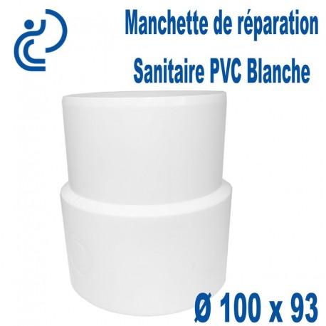 Manchette de Réparation Sanitaire blanche (ZTT) à coller Ø100x93