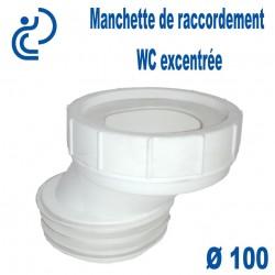 Manchette de raccordement wc excentrée