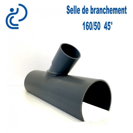 Selle de Branchement 160x50 à 45° PVC à coller