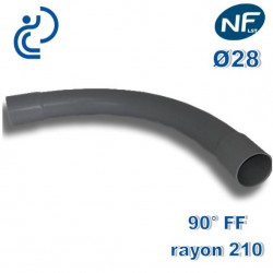 COURBE PVC NFLST 90° D28 R210 FF