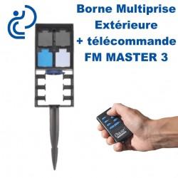 Borne Multiprise Extérieure FM MASTER 3 Avec Télécommande (4 prises dont 1 variateur)