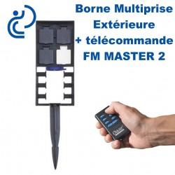 Borne Multiprise Extérieure FM MASTER 2 Avec Télécommande (4 prises)
