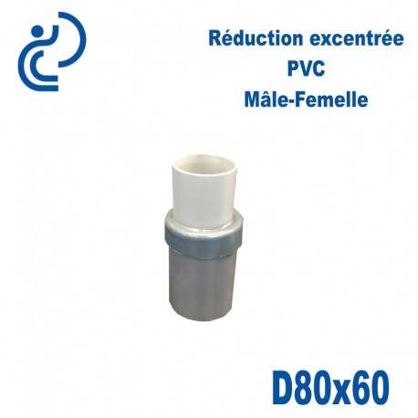REDUCTION EXCENTREE PVC 80X60 MF