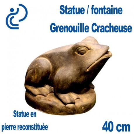 Statue / Fontaine Grenouille Cracheuse en Pierre Reconstituée 40cm