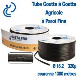 Tube Goutte à Goutte Agricole à Paroi Fine Ø16.2 320µ Couronne 1300 mètres