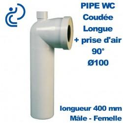 PIPE WC COUDEE LONGUE D100 AVEC PRISE D AIR