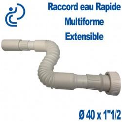 "Raccord Rapide évacuation Multiforme & Extensible Ø40 Mâle x 1""1/2"