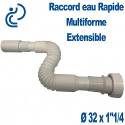 "Raccord Rapide évacuation Multiforme & Extensible Ø32 Mâle x 1""1/4"