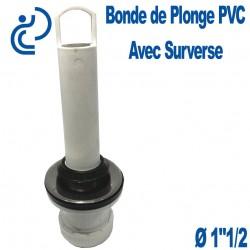 "Bonde de Plonge PVC blanc avec Surverse 1""1/2"