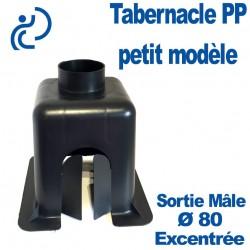 Tabernacle Excentré Petit Modèle Mâle en Polypropylène Noir