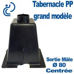 Tabernacle Centré Grand Modèle Mâle en Polypropylène noir