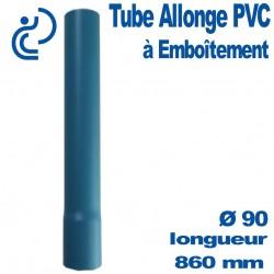 Tube allonge à emboîtement 820/860 mm en PVC bleu