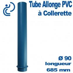 Tube fourreau PVC à collerette Longueur 650/685 mm (tube allonge)