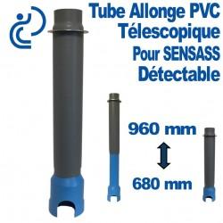 Tube sensass télescopique détectable 680/960 en PVC bleu